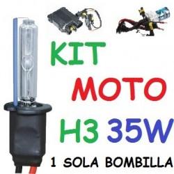 KIT XENON H3 35w (ESTANDAR) MOTO 1 BOMBILLA