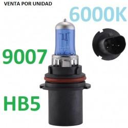 BOMBILLA HB5 9007 PX29T TIPO XENON LUZ BLANCA EFECTO 6000K COCHE MOTO