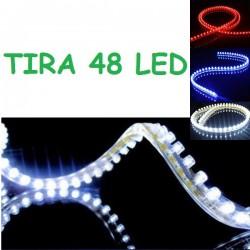 TIRA 48 LED 50 CM FLEXIBLE RESISTENTE AL AGUA COCHE MOTO 12V MALETERO
