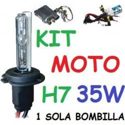 KIT XENON H7 35w (ESTANDAR) MOTO 1 BOMBILLA