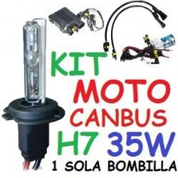 KIT XENON H7 35w CANBUS NO ERROR MOTO 1 BOMBILLA