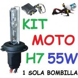 KIT XENON H7 55w (Alta Potencia) MOTO 1 BOMBILLA