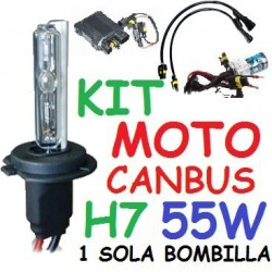 KIT XENON H7 55w CANBUS NO ERROR MOTO 1 BOMBILLA
