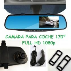 RETROVISOR CENTRAL CAMARA INTEGRADA FULL HD 1080P SENSOR MOVIMIENTO