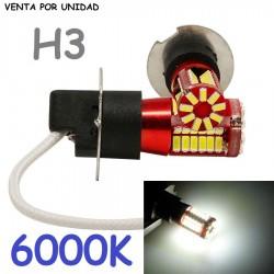 BOMBILLA H3 57 LED ANTINIEBLA PARA COCHE MOTO Y FURGONETA