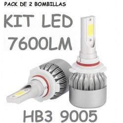 KIT BOMBILLA Hb3 h10 LUZ LED 7600 LUMENES 12V / 24V
