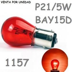 BOMBILLA P21/5W S25 BAY15d 1157 Rojo 12 V 21/5W ROJO ROJA