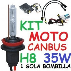 KIT XENON H8 35w CANBUS NO ERROR MOTO 1 BOMBILLA