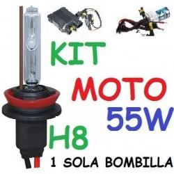 KIT XENON H8 55w (Alta Potencia) MOTO 1 BOMBILLA
