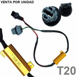 CANCELADOR DE ERROR BOMBILLAS T20 W21W 7440 LED PARA COCHE