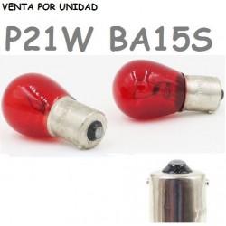 BOMBILLA S25 BA15s P21W 1156 12V21W COCHE ROJO
