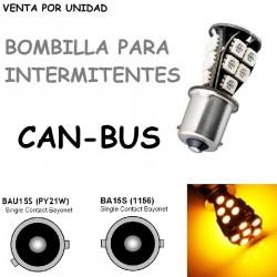 BOMBILLA LED INTERMITENTES CANBUS BAU15S BA15S PY21W COCHE