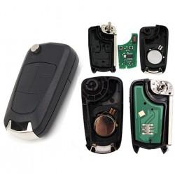 Llave con mando Opel Recambio 2 Botones Con Electrónica y Chip Tipo E