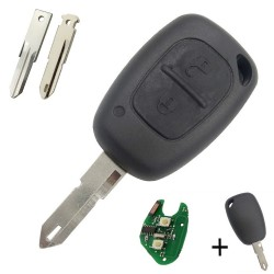 Llave mando Opel Nissan Renault Dacia Recambio Electrónica Chip Tipo I