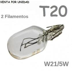 Bombilla T20 Halógena de Filamento Coche 580 7443 W21/5W