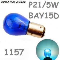Bombilla P21/5W S25 BAY15d 1157 8000K Blanco Azulado 12 V 21/5W Azul