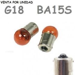 Bombilla G18 S25 BA15s R10W 1156 12V10W Coche Ámbar Naranja