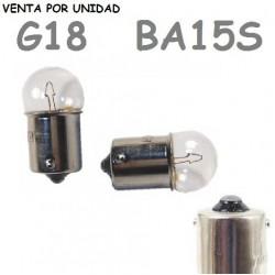 Bombilla G18 S25 BA15s R5W 1156 12V5W Coche