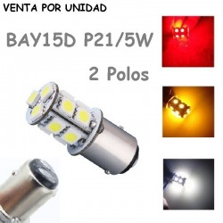 Bombilla S25 BAY15D P21/5W 13 Led para Coche 1157 12V 21W 5W