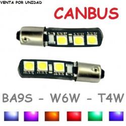 T4W W6W 6 LED Canbus Bombilla No Error para Coche BA9S H6W