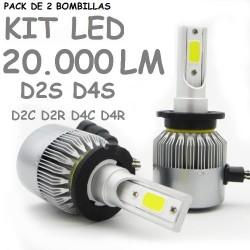 Kit Bombilla D4S y D2S Led 20000 Lúmenes 12V 24V Coche Furgoneta Camión