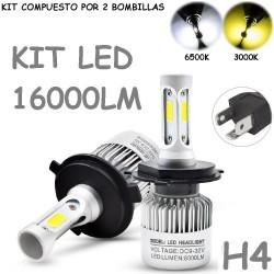 Kit Bombilla H4 HB2 9003 Luz Led 16000 Lúmenes 12-24V Coche Camión