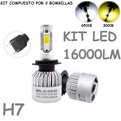 Kit Bombilla H7 Luz Led 16000 Lúmenes 12-24V Coche Moto Camión