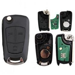 Llave con mando Opel Recambio 3 Botones Con Electrónica y Chip Tipo O