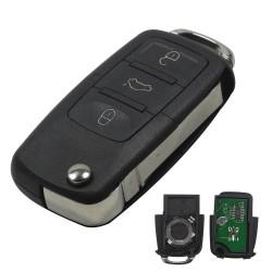 Llave con mando Audi Recambio 3 Botones Con Electrónica y Chip Tipo MN