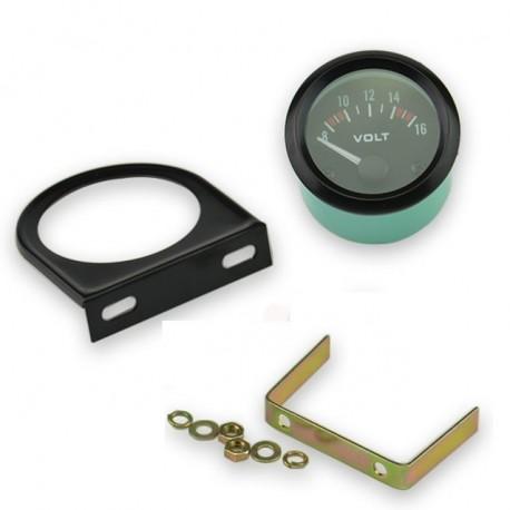 Marcador de Voltios Voltaje Voltímetro Coche Reloj Tunning Universal