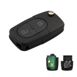 Llave con mando Audi Recambio 2 Botones Con Electrónica y Chip Tipo R