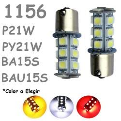 S25 1156 BA15S P21W - 1156PY/B BAU15S PY21W 18 LED Bombilla Coche Piloto