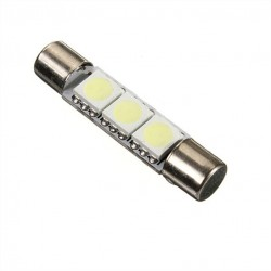 T6 C5W - TS-14V 3 LED Bombilla 6641 6614 Coche fusible Alargado