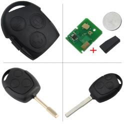 Llave con mando Ford Recambio 3 Botones Con Electrónica y Chip Tipo G