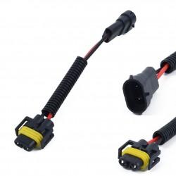 Alargador Bombilla H8 H9 y H11 Conexión Macho y Hembra Conector Coche