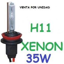 BOMBILLA H11 XENON 35W REPUESTO COCHE MOTO