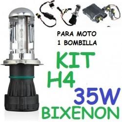 KIT BI-XENON H4 35w (ESTANDAR) MOTO 1 BOMBILLA