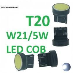 BOMBILLA LED LUZ FRENO POSION Y FRENO INTERMITENTE LUZ DE DIA T20 W21/5W