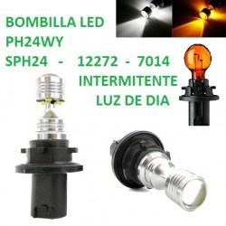 BOMBILLA CANBUS INTERMITENTE LUZ DE DIA PH24WY SPH24 12272 7014