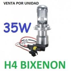BOMBILLA H4 9003 XENON 35W REPUESTO COCHE MOTO CORTA Y LARGA